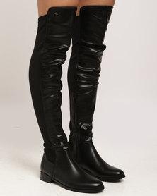 Miss Black Krabi OTK Flat Boot Black