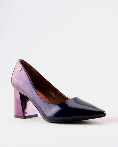 Dolce Vita Dolce Vita Majorca Block Heel Court Purple cheap 2014 unisex clearance cheap price free shipping sale v5dhemw