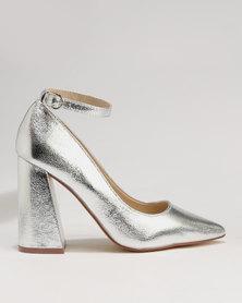 Footwork Zucca Block Court Heel Silver