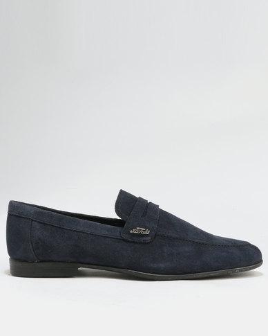 Anton Fabi Anton Fabi Servero Suede Formal Slip On Shoes Navy cheap price outlet sale 24HU3A