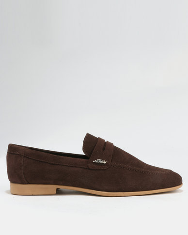 outlet real Anton Fabi Anton Fabi Servero Suede Formal Slip On Shoes Chocolate outlet discount authentic clearance the cheapest wiki for sale clearance reliable U1Onz