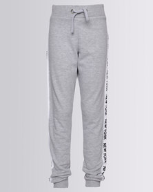 New Look New York Side Tape Joggers Grey