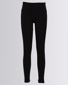 New Look Side Stripe Leggings Black