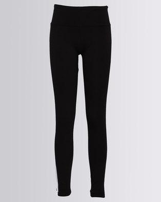 New Look Side Stripe Leggings Black