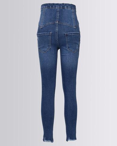 New Look High Waist Skinny Jeans Blue
