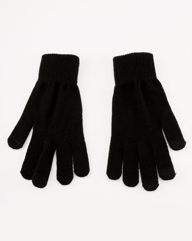 New Look 2 Pack Touch Screen Gloves Black