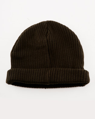 New Look Docker Beanie Khaki