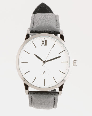 New Look Minimal Formal Watch Black