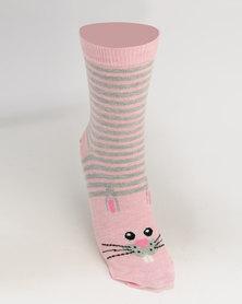 New Look 4 Per Pack Woodland Toe Friend Socks Multi