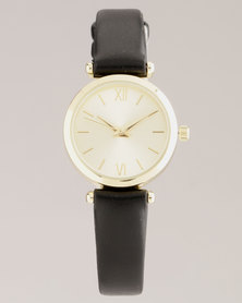 New Look Mini Shoulder Detail Watch Black