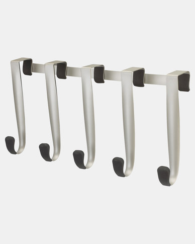 UMBRA Over The Door 5 Schnook Hooks Silver-tone & Nickel