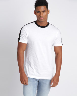 New Look Contrast Side Stripe T-Shirt White