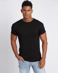 New Look Cotton Short Sleeve T-Shirt Black