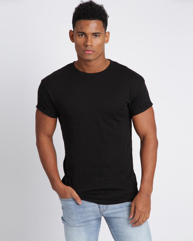 New Look Cotton Short Sleeve T-Shirt Black