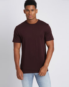New Look Crew Neck T-Shirt Dark Red