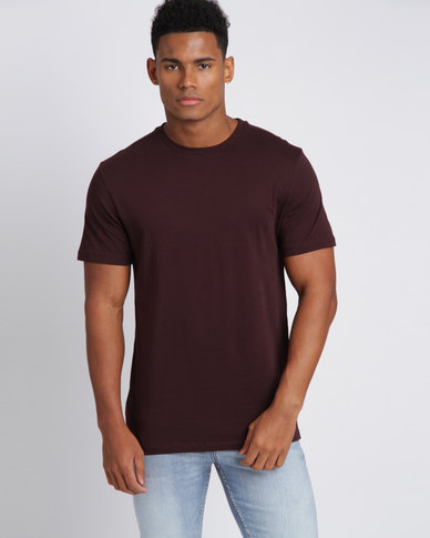 New Look Crew Neck T-Shirt Dark Red