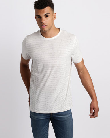 New Look Stripe Crew Neck T-Shirt White
