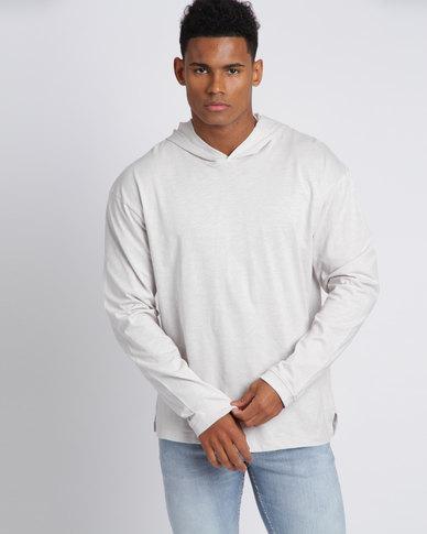 New Look Pale Long Sleeve Hoodie Grey