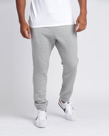 Nike Mens Nike Sportswear Joggers Club Fleece Dark Grey/White