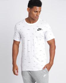 Nike Mens Sportswear Just Do It Tee White