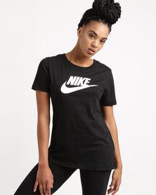 Nike Womens Sportswear Tee Logo Black