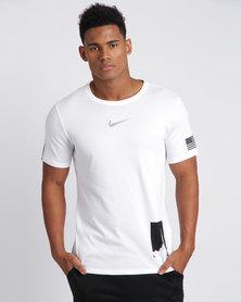 Nike Mens Nike Dry Tee DriFit L O Unit White/Black