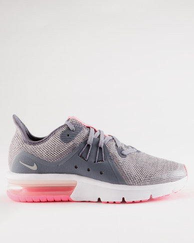 competitive price 59146 5c99e Nike Air Max Sequent 3 GS Sneaker Light Carbon Metallic Silver   Zando