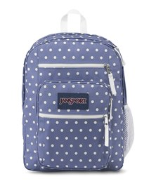 JanSport Big Student Backpack Bleached Denim White Dots