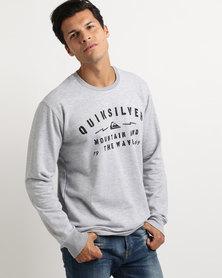 Quiksilver 3 Second Memory Crew Sweatshirt Grey