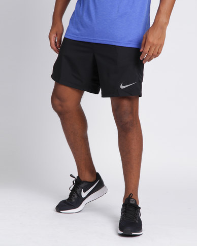 Nike Performance Mens Nike Flex Challenger 2 in 1 Shorts 7 Inch Black  f3ad5e6d6bb1