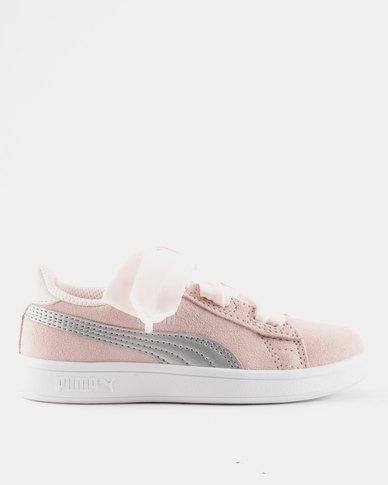Puma Smash V2 Ribbon AC Sneaker Pink  1de9f9edd