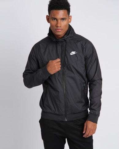 huge selection of 25f68 abd83 Nike Mens Nike Sportswear Windrunner Jacket Black White   Zando