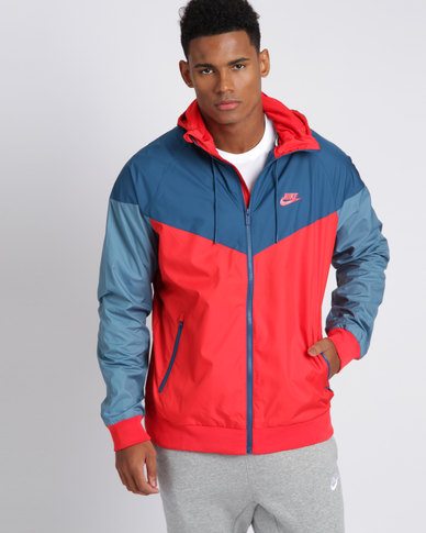 new products c43ee 64c9e Nike Mens Sportswear Windrunner Jacket Red Blue   Zando