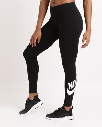 4f598531df Nike Womens NSW Legging Leg-a-see Logo Black White