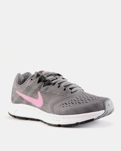 ad419c15190b Nike Performance Womens Nike Zoom Span Sneaker 2 Grey