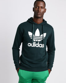adidas Mens Over The Head Hoodie Green