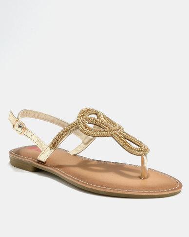 189bee8ae738 Legit Beaded Thong Sandal Gold