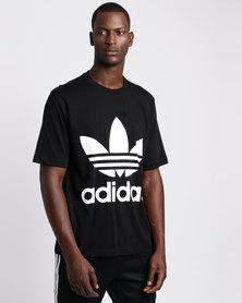 adidas Mens Oversized Tee Black/White