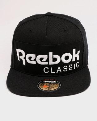 c399578d32a Reebok Classic Foundation Cap Black