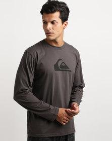 Quiksilver Rhys Logo Long Sleeve T-Shirt Tarmac Charcoal