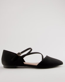 Call It Spring Nespolo Criss-Cross Ballerina Pumps Black