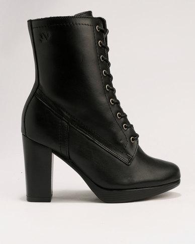 Froggie Billie Lace Up Ankle Boot Black