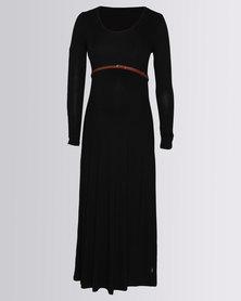 Cherry Melon Maxi Dress Black