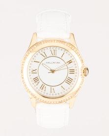 Hallmark PU Strap Watch White