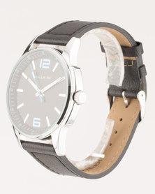 Hallmark PU Strap Watch Black