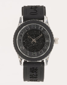 Superdry Tokyo Shimmer With Silicone Strap Watch Black