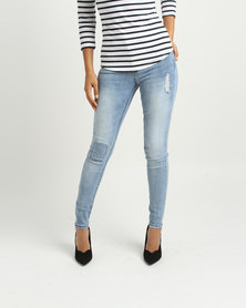 Sissy Boy Pocket Detail Skinny Jeans Light Blue