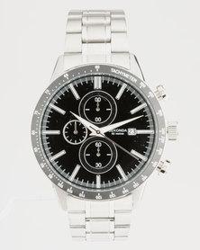 Sekonda Round Chrome Coloured Case Watch Silver-Tone