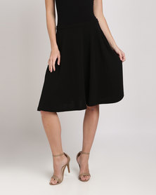 Your Style Pockets Circle Skirt Black
