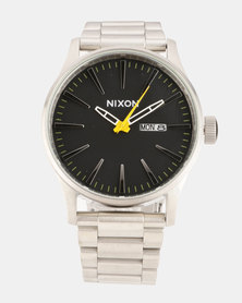 Nixon Sentry Grand Prix Watch Silver
